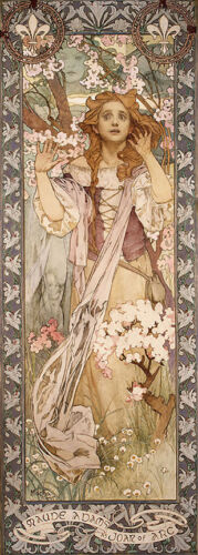 Joan of Arc   by Alphons Mucha   Giclee Canvas Print Repro