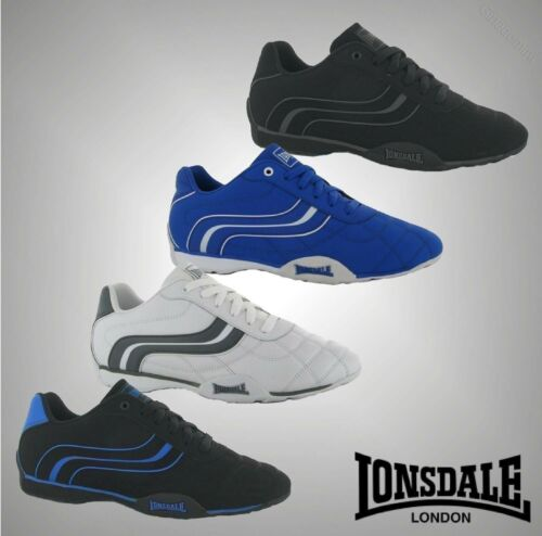 Mens Branded Lonsdale Motif Lace Up Camden Trainers Sports Footwear Size 7-12