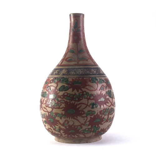 Antique Chinese Ming/Qing Swatow Porcelain Stick Neck Bottle Base, 17th-18th C.