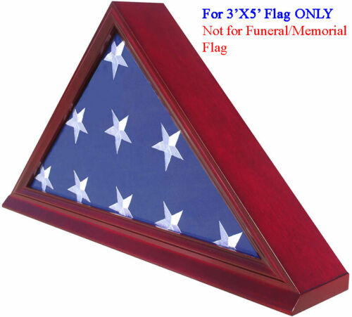 3' x 5' Flag Display Case Flag holder box, NOT for Memorial/FUNERAL flag FC35-CHOther Militaria - 135