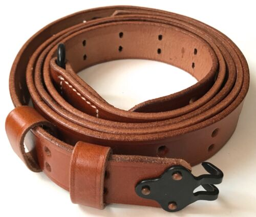 WWII US M1 GARAND RIFLE M1907 LEATHER CARRY SLING