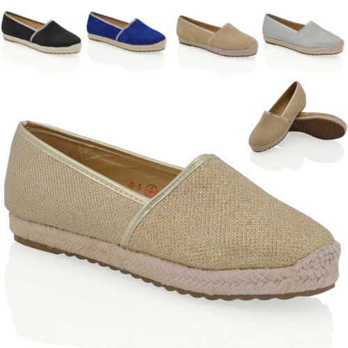 Womens Espadrilles Shoes Ladies Flatform Casual Summer Flat Slip On Pumps Size <br/> FREE UK DELIVERY !!!!!!!!!!!!!!!!!!!!!!!!!!
