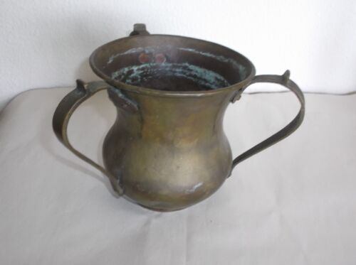 Arts & Crafts Movement Metal Vessel/Urn, 3 Handles, Eagle mark Cyrillic Letters