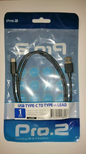 Pro.2 1M USB 3.1 Type-C to USB 3.0 Type-A Plug/ Reversible C-Connector