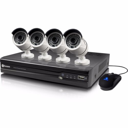 New Swann SWNVK-874004-US 8 Channel 4MP 2TB Security System & 4 x 4MP Cameras