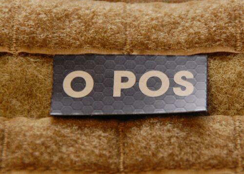 O POS Blood Type IR Patch Infrared US Army Navy Air Force SEAL USN USAF  Navy - 48826