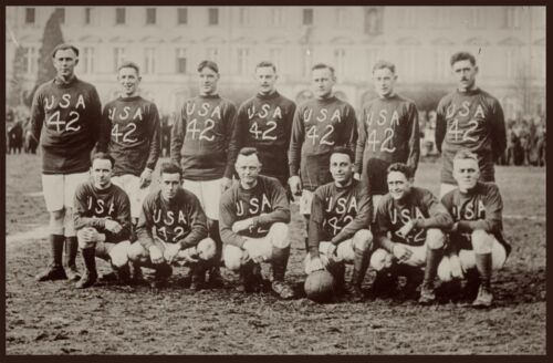 "1901 United States America SOCCER TEAM photo 19""x13"" poster. Antique Sports"