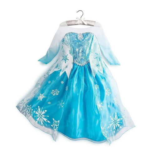 Girl Dress Costume Princess Queen Elsa Party Birthday size 2-10Yrs