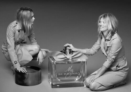 Art Print POSTER Kate Moss and Cara Delevingne My Burberry