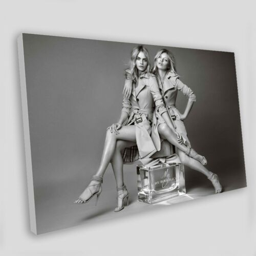 Art Print POSTER / CANVAS Kate Moss and Cara Delevingne shot together for My
