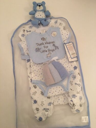 Cutie Pie Baby Blue Layette Set Size 3 6 Months Thank Heaven for Little Boys