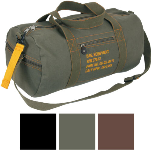 Cotton Canvas Travel Equipment Carry Duffle Bag Flight Adjustable