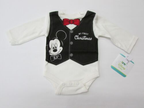 "Disney Baby Boy's Mickey Mouse ""My First Christmas"" Bodysuit"