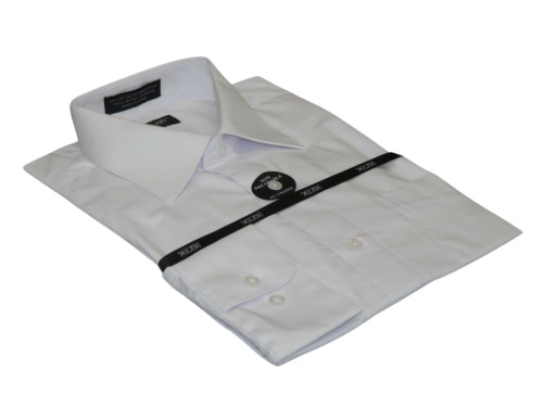 Mens Milani dress shirt soft cotton Blend easy wash business long sleeves white