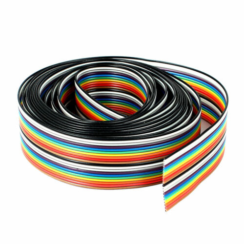 1mm Pitch 20pin 20 Wire Flat IDC Ribbon Cable Cord 25mm Wide 2.47M 8Ft Colorful