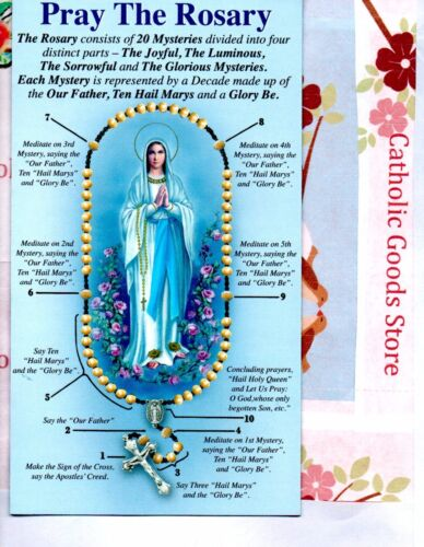 Pray the Rosary Pamphlet Includes All 4 Mysteries - English