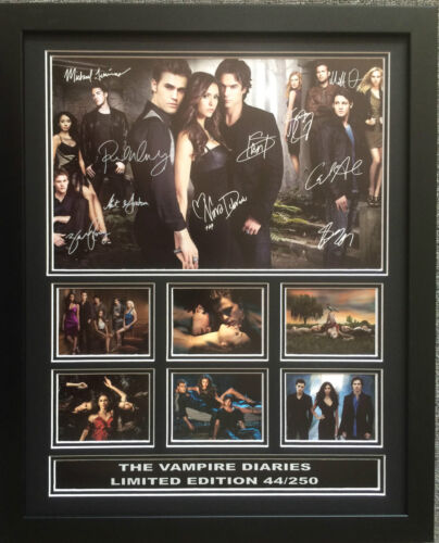 THE VAMPIRE DIARIES CAST SIGNED LIMITED EDITION FRAMED MEMORABILIA