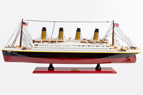 NEW PREMIUM RMS TITANIC Handcrafted Wooden Model Boat Cruise Ship 80cm