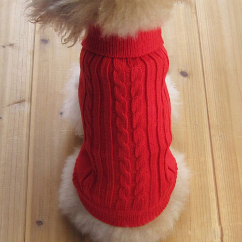 Pet Dog Puppy Clothes Knitted Dog Jumper Pet Sweater For Small Dogs XS S M