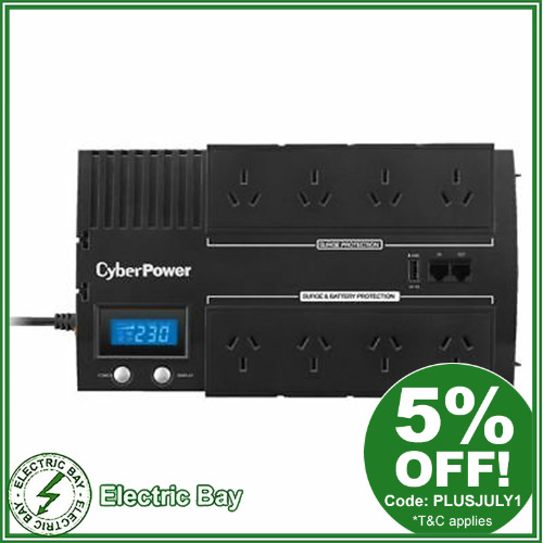 700VA CyberPower UPS BR700ELCD 8 Way Surge protect Uninterruptible Power Supply