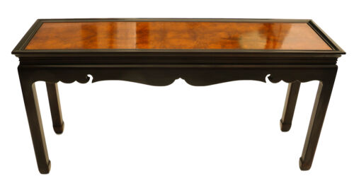 Burlwood Console Table Asian Oriental  furniture