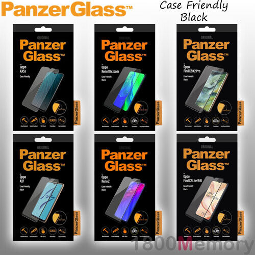 GENUINE PanzerGlass Tempered Glass Screen Protector for Oppo Phones Black
