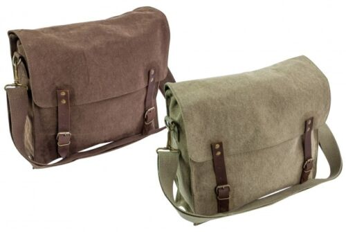 HEAVY DUTY CANVAS SATCHEL HAVERSACK for messenger bag army cotton FINTRY