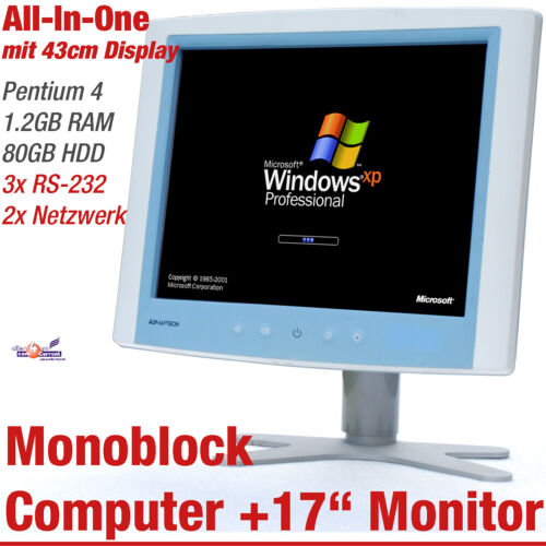 "43CM 17 "" Advantech POC-174 Monobloc All-In-One Computer 80GB HDD 1,2GB RS-232"