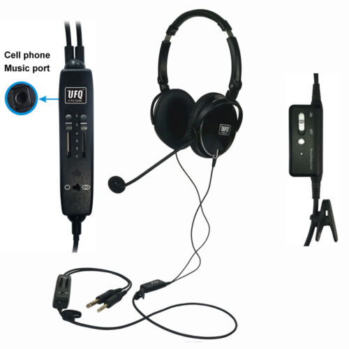 UFQ A6 ANR aviation headset-The lightest ANR aviation headset in the world pilot
