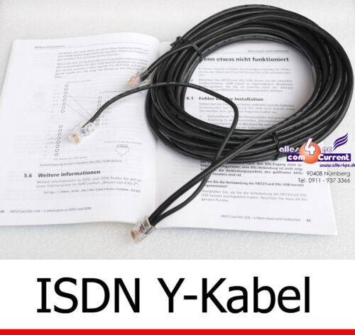 Y-Cable 10 Meters 10m for USB DSL Isdn Modem AVM Fritz! Card 2.0 Y-Cable