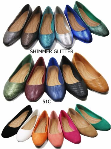 New women lady basic ballet flats slip on loafer  shoes  all colors