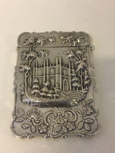 Antique American Leonard & Wilson Coin Silver Castle Top Card Case