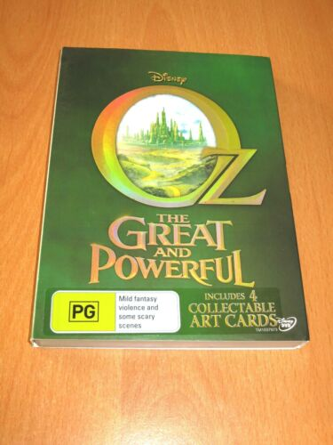 OZ THE GREAT AND POWERFUL - DISNEY DVD [ REGION 4 ] + 4 ART CARDS * AS NEW ! *