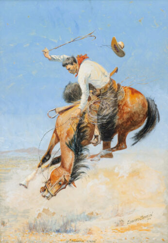 Swappin Ends  by Edward Borein  Giclee Canvas Print Repro