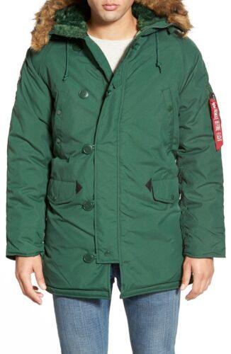 Alpha Industries Men's Heavy-weight Altitude Parka, Forest Green