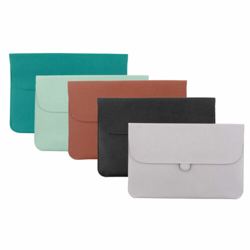 PU Leather Water Resistant Pouch Cover Laptop Sleeve for MacBook Pro Air 12 Inch