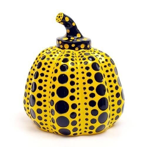 Pumpkin Lammfromm Yayoi Kusama Japan Artist Paperweight Object Sculpture Yellow