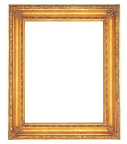 """STANDARD 14 X 18 PICTURE FRAME CLASSIC CARVED GOLD LEAF FINISH 2 1/4"""" WIDE NIB"""