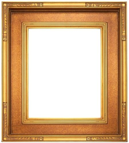 """STANDARD 20 X 24 PICTURE FRAME BRONZED GOLD FINISH CARVED 3 3/4"""" WIDE NIB"""