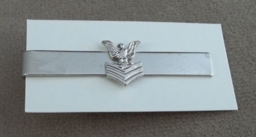 US Navy Petty Officer 1st Class New Old Stock Vintage Tie BarNavy - 66533