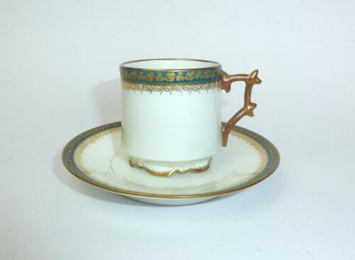 Place setting Collection cup cup with saucer Limoges France around 1890 blue