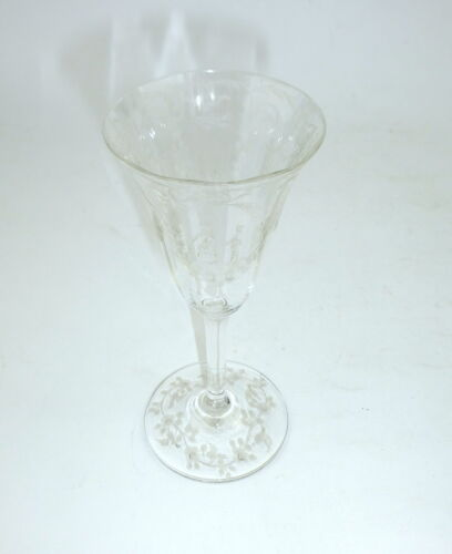 Extraordinary Liqueur Glass With Polish Silesia about 1880 Glas