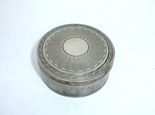 Unusual fine decorative Silver Tin France 19 Jh