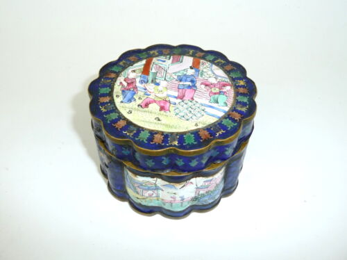 Enamel Tin Box China 19 Jh