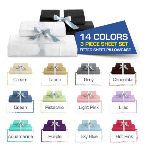 SINGLE-KING Single-DOUBLE-QUEEN/KING Bed FITTED SHEET(Fitted & Pillowcases) <br/> No Flat Sheet included,Free Fast Delivery