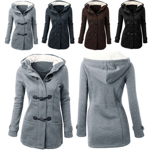 Women's Winter Long Trench Parka Overcoat Jacket Warm Hooded Tops Outwear Coat