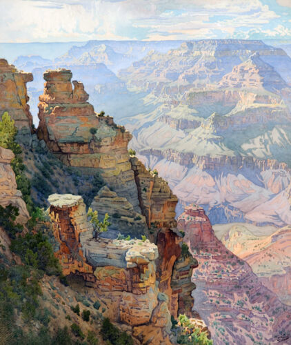 Yaki Point Grand Canyon   by Gunnar Widforss  Giclee Canvas Print Repro