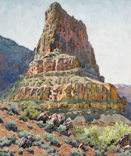 Zoroaster Temple   by Gunnar Widforss  Giclee Canvas Print Repro