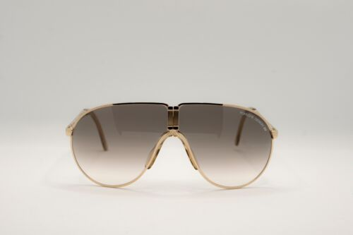 Porsche Design Gold Sunglasses Vintage Folding 5622 Made In W.Germany -Very Rare