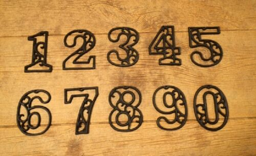 """Vintage-Style House Address Numbers 4 5/8"""" tall (Set of Four) 0184-0558-4S"""